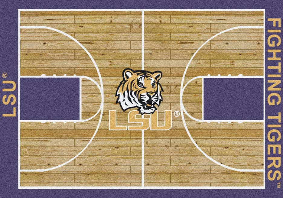 Louisiana State (LSU) Tigers 7ft 8in x 10ft 9in Home Court Area Rug