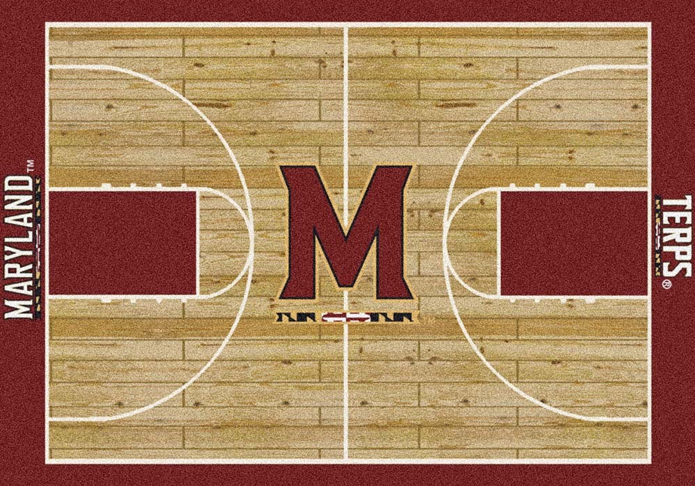 """Maryland Terrapins 7' 8"""" x 10' 9"""" Home Court Area Rug"""