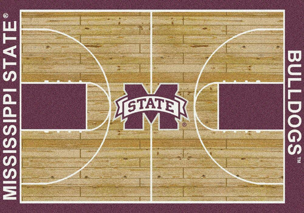 """Mississippi State Bulldogs 5' 4"""" x 7' 8"""" Home Court Area Rug"""
