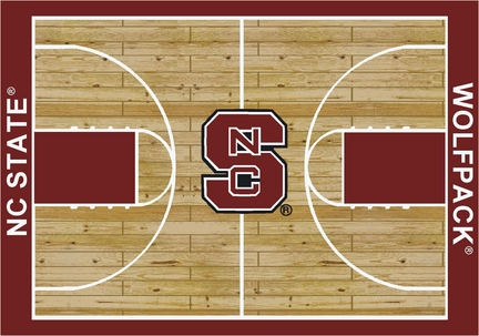 """North Carolina State Wolfpack 5' 4"""" x 7' 8"""" Home Court Area Rug"""