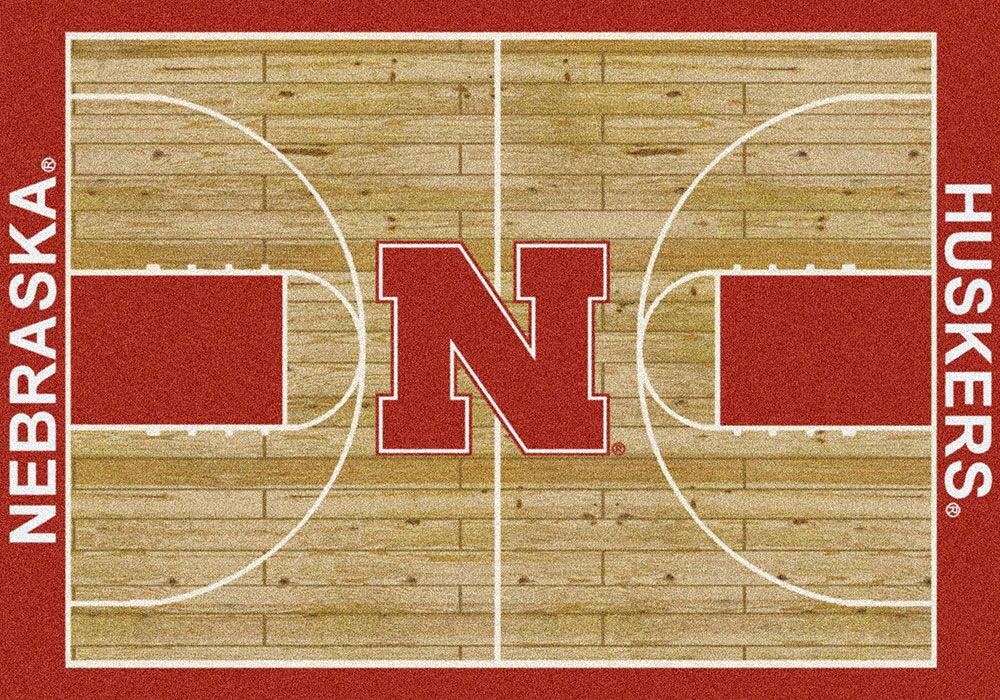 Nebraska Cornhuskers 7ft 8in x 10tf 9in Home Court Area Rug