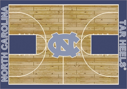 North Carolina Tar Heels 7ft 8in x 10ft 9in Home Court Area Rug