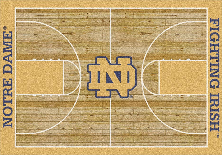Notre Dame Fighting Irish 7ft 8in x 10ft 9in Home Court Area Rug