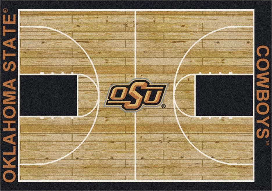 Oklahoma State Cowboys 7ft 8in x 10ft 9in Home Court Area Rug