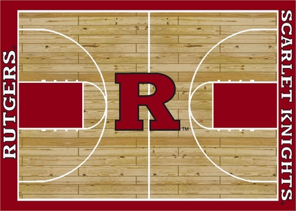 """Rutgers Scarlet Knights 7' 8"""" x 10' 9"""" Home Court Area Rug"""