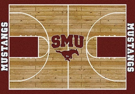 """Southern Methodist (SMU) Mustangs 7' 8"""" x 10' 9"""" Home Court Area Rug"""