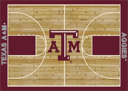 Texas A & M Aggies 7ft 8in x 10ft 9in Home Court Area Rug