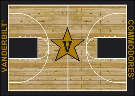 "Vanderbilt Commodores 7' 8"" x 10' 9"" Home Court Area Rug"