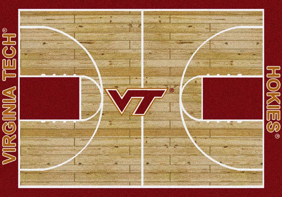 Virginia Tech Hokies 7ft 8in x 10ft 9in Home Court Area Rug