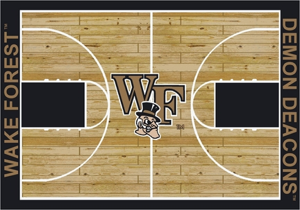 """Wake Forest Demon Deacons 5' 4"""" x 7' 8"""" Home Court Area Rug"""