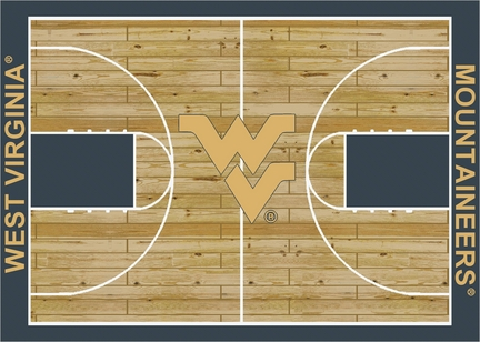 West Virginia Mountaineers 7ft' 8in x 10ft 9in Home Court Area Rug