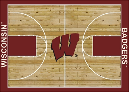 "Wisconsin Badgers 5' 4"" x 7' 8"" Home Court Area Rug"