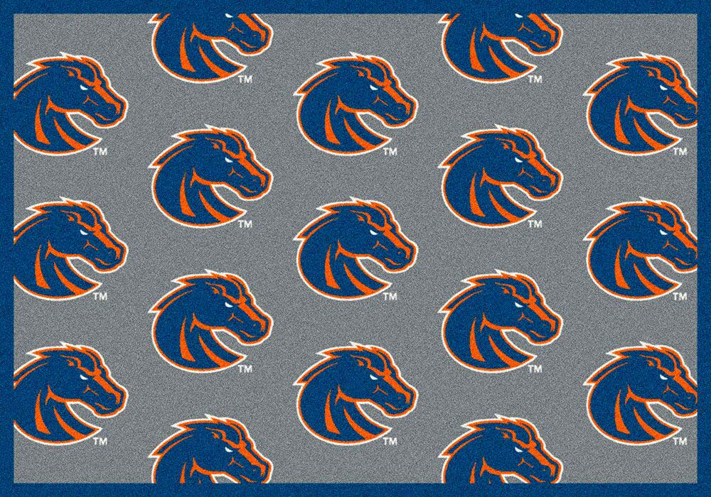 Boise State Broncos 5′ 4″ x 7′ 8″ Team Repeat Area Rug