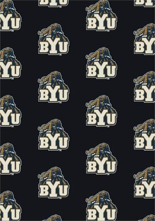 "Brigham Young (BYU) Cougars 7' 8"" x 10' 9"" Team Repeat Area Rug"