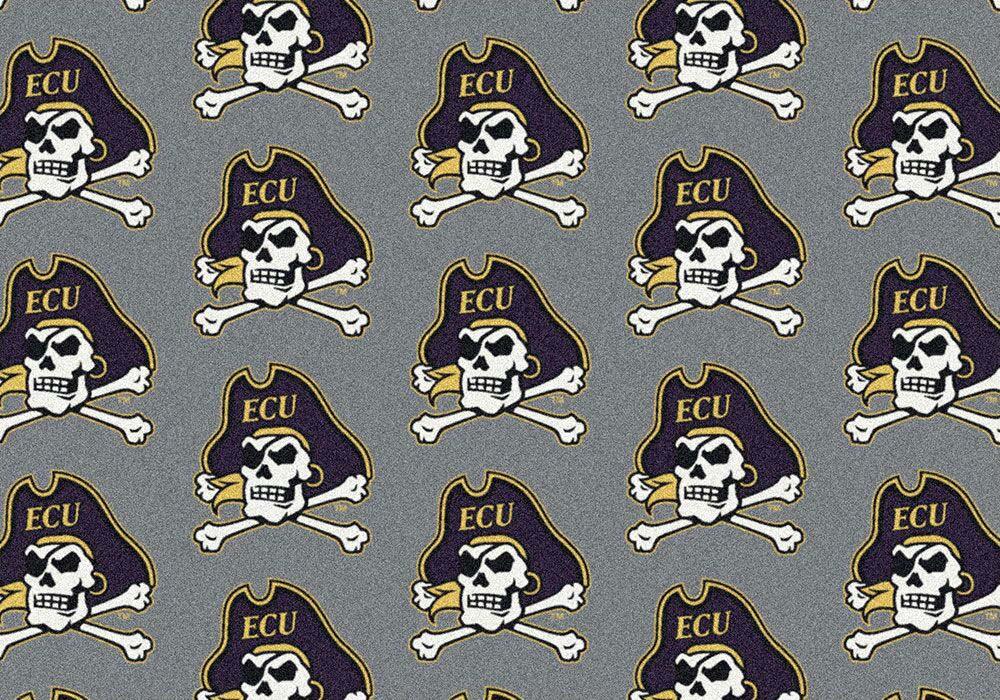 """East Carolina Pirates 7' 8"""" x 10' 9"""" Team Repeat Area Rug"""