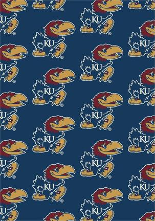 Kansas Jayhawks 7ft 8in x 10ft 9in Team Repeat Area Rug
