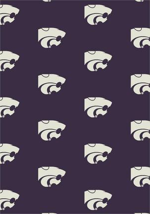 Kansas State Wildcats 7ft 8in x 10ft 9in Team Repeat Area Rug