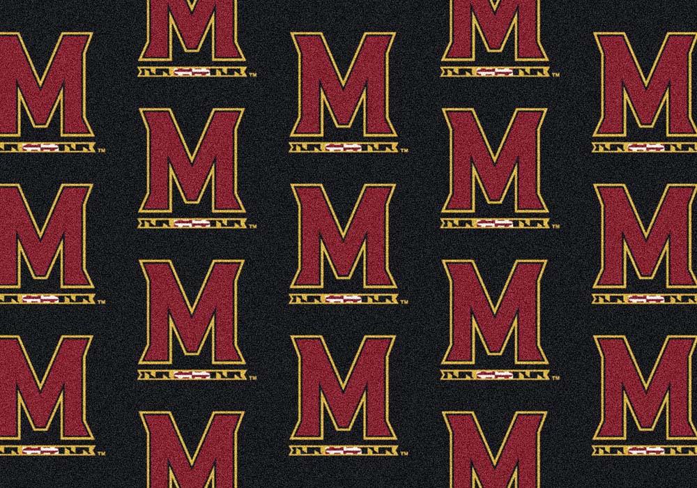 "Maryland Terrapins 7' 8"" x 10' 9"" Team Repeat Area Rug"