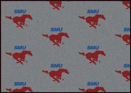 "Southern Methodist (SMU) Mustangs 3' 10"" x 5' 4"" Team Repeat Area Rug"