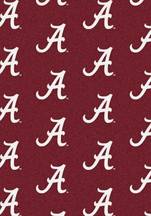 "Alabama Crimson Tide 5' 4"" x 7' 8"" Team Repeat Area Rug (""A"" Logo)"