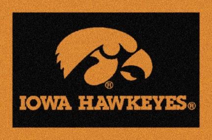 Iowa Hawkeyes 4' x 6' Team Door Mat