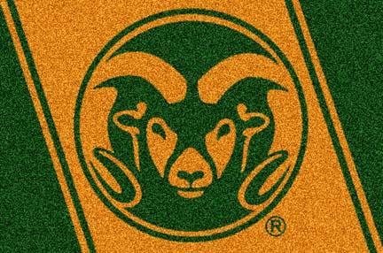 """Colorado State Rams 33"""" x 45"""" Team Door Mat"""