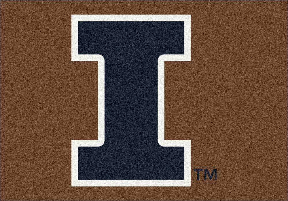 """Illinois Fighting Illini 33"""" x 45"""" Team Door Mat"""