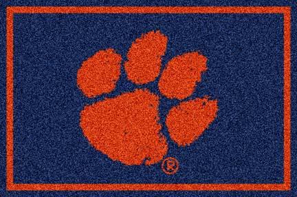 Clemson Tigers (Horizontal) 4' x 6' Team Door Mat