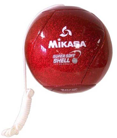 Candy Apple (Red Glitter) Super Soft Tetherball from Mikasa