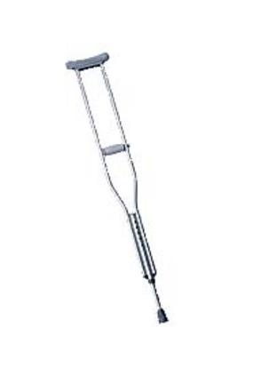 """Aluminum Crutches for Children 4'2"""" - 4'6"""" - 1 Pair"""