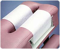 """8 1/2"""" x 125' Crepe Headrest Paper from Banta Healthcare Products - Case of 25 Rolls"""