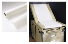 "14"" x 125' Crepe Exam Table Paper - Case of 12 Rolls"