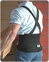 Workforce Industrial Back Support with Clip-On Suspenders (Regular)