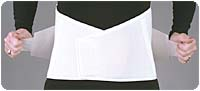 White Dura-Foam™ Duo-Adjustable Back Support (X-Large)