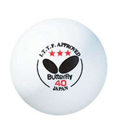 Official White Butterfly 3-Star 40mm Table Tennis Balls - 144 Gross Pack MKP-B3W40