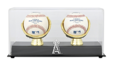 Gold Glove MLB Double Baseball Display Case with Los Angeles Angels of Anaheim Logo MM-DISP2GANGE