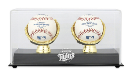 Gold Glove MLB Double Baseball Display Case with Minnesota Twins Logo