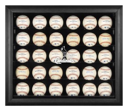 Black Framed 30-Ball St. Louis Cardinals Logo Display Case MM-DISP31CARD