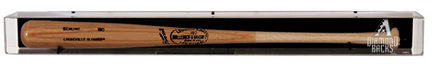 Deluxe Backwards Baseball Bat Display Case with 2007 Arizona Diamondbacks Logo Sports Gear