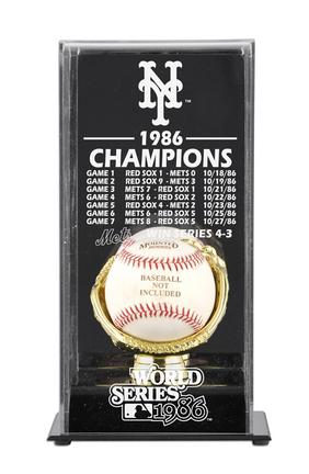 1986 New York Mets World Series Champions Display Case