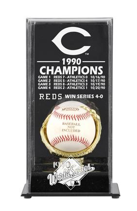 1990 Cincinnati Reds World Series Champions Display Case
