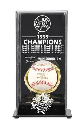 1999 New York Yankees World Series Champions Display Case
