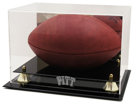 Pittsburgh Panthers Logo Golden Classic Football Display Case