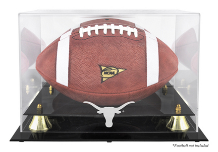 Texas Longhorns Golden Classic Logo Football Display Case with Mirror Back