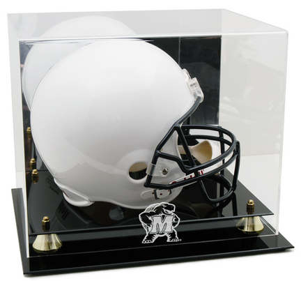 Maryland Terrapins Logo Golden Classic Full Size Helmet Display Case