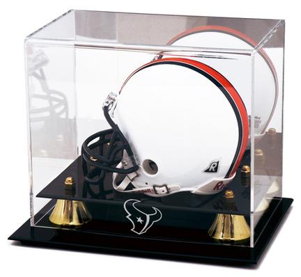Golden Classic Mini Football Helmet Case with Houston Texans Logo