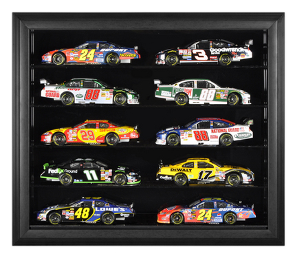 Black Framed Wall Mounted Die Cast Car Case