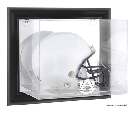 Auburn Tigers Black Framed Wall Mountable Logo Football Helmet Display Case