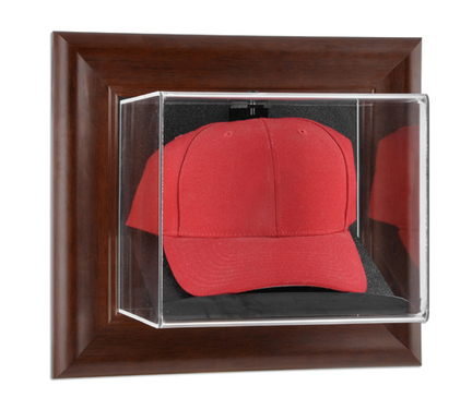 Brown Framed Wall Mounted Cap Case