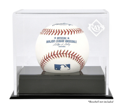 Deluxe Baseball Cube Display Case with Tampa Bay Rays Logo MM-DISP1CDEVI